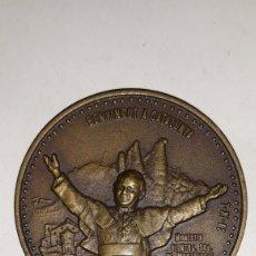 Trofeos y medallas: MEDALLA DE LA VISITA DE JOANESS PAULUS II AL MONASTERIO DE NUESTRA SEÑORA DE MONSERRAT 1982. Lote 162109620