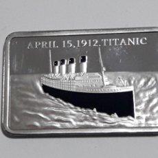 Trofeos y medallas: MONEDA COBMEMORATIVA TITANIC1 OZ GOLD LAREYED 999. Lote 162498593