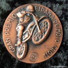 Trofeos y medallas: MEDALLA GRAN PREMIO DE ESPAÑA MOTO CROSS - MANCOMUNIDAD SABADELL TERRASA 50MM COBRE - MOTOCICLISMO. Lote 163050254