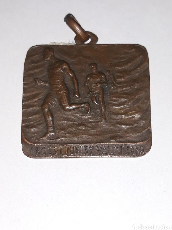 MEDALLA DEPORTIVA CROSS COUNTRY VALLMITJANA (Numismática - Medallería - Trofeos y Conmemorativas)