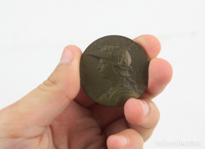 MEDALLA FRANCESA CON GRABADO DE LOUIS OSCAR ROTY, REPUBLIQUE FRANÇAISE, MINISTERE DE L'INTERIEUR. (Numismática - Medallería - Trofeos y Conmemorativas)