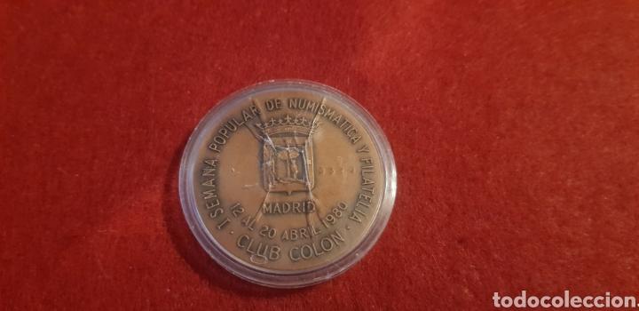 Trofeos y medallas: Medalla: 1 Aniversario Ayuntamiento democráticos Madrid. - Foto 2 - 165117654