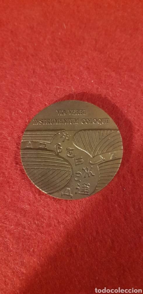 Trofeos y medallas: MEDALLA CONMEMORATIVA 1971 TELEFONICA via verbi instrumentum coloquii moneda - Foto 2 - 165119336