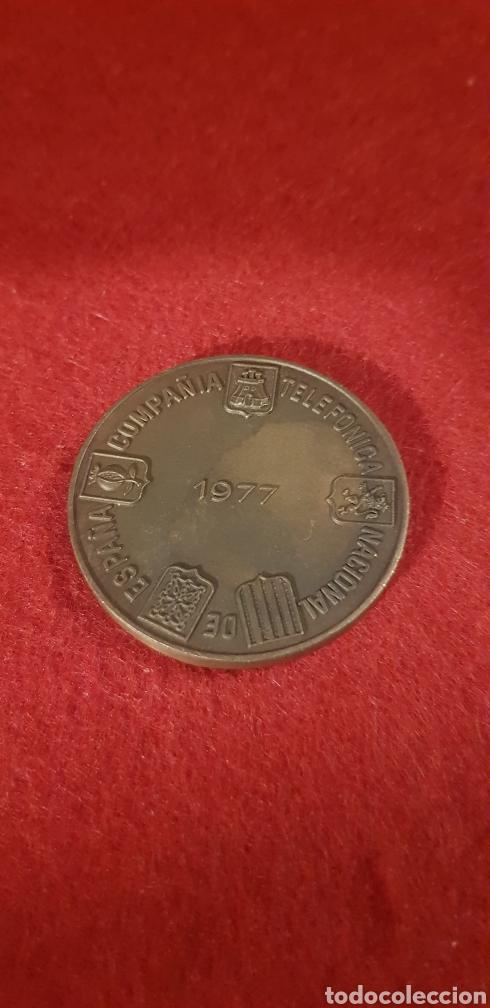 Trofeos y medallas: Medalla conmemorativa telefónica 1977 - Foto 2 - 165119612