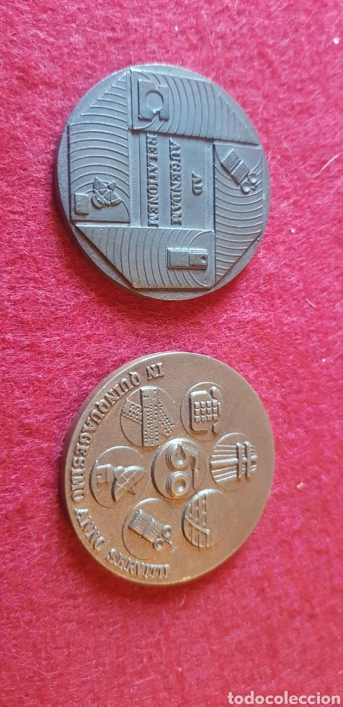 MONEDAS CONMEMORATIVAS DE LA COMPAÑÍA TELEFÓNICA NACIONAL DE ESPAÑA (Numismática - Medallería - Trofeos y Conmemorativas)