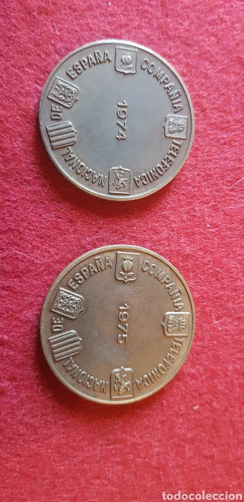 Trofeos y medallas: Monedas conmemorativas de la compañía telefónica nacional de España - Foto 2 - 165194161