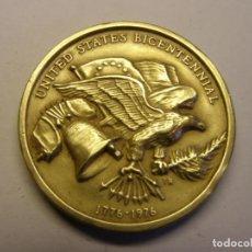Trofeos y medallas: MEDALLA CONMEMORATIVA DEL BICENTENARIO DE ESTADOS UNIDOS. RIDGEWOOD, AÑO 1976.. Lote 165655578