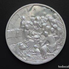 Trofeos y medallas: CINCO ONZAS PLATA - PRIMERA CATEDRAL AMÉRICA - NAVIDAD 1989. Lote 165824470