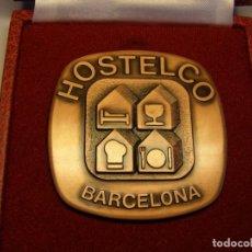 Trofeos y medallas: MEDALLA , FIRA DE BARCELONA. AÑO 1989. HOSTELCO 89. FABRICANTE PUJOL.. Lote 166738646