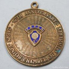 Trofeos y medallas: MEDALLA. 10TH ANNIVERSARY. JAPAN JUNIOR CHAMBER OF COMMERCE. Lote 167253088