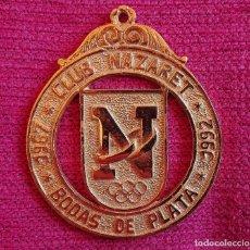 Trofeos y medallas: CLUB NAZARET JEREZ MEDALLA BODAS DE PLATA 1967 - 1992 OBRA SOCIAL CAJA DE AHORROS. Lote 168341536