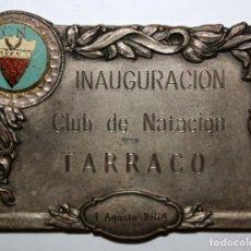 Trofeos y medallas: MEDALLA PLACA DE LA INAGURACION DEL CLUB NATACIÓN TARRACO DE TARRAGONA. 1964. Lote 168452844