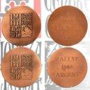 Trofeos y medallas: LOTE 2 MEDALLA EN BRONCE CENTRE EXCURSIONISTA LERIDA RALLYE CIUTAT LLEIDA 1984 CATEGORIA ORO Y PLATA. Lote 168741244
