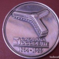 Trofeos y medallas: MEDALLA CONMEMORATIVA SEGUROS CATALANA OCCIDENTE 1864-1989 125 AÑOS 60 MM PLATA 925. Lote 168942184