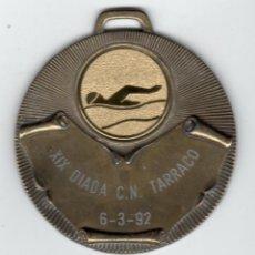 Trofeos y medallas: NATACIÓN / XIX DIADA C.N. TARRACO 1992. Lote 169567764