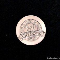 Trofeos y medallas: MEDALLA CONMEMORATIVA 650 ANIVERSARIO DE LA CARTA DE POBLACIÓN - 1338 - 1988 -CALELLA, BARCELONA.. Lote 170165260