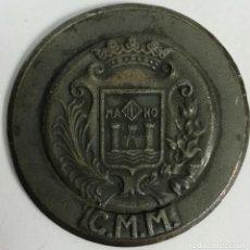Trofeos y medallas: MEDALLA DE METAL PLATEADO REGATA-CRUCERO ARENYS DE MAR-MAHON. ESPAÑA. 1972. Lote 170907000