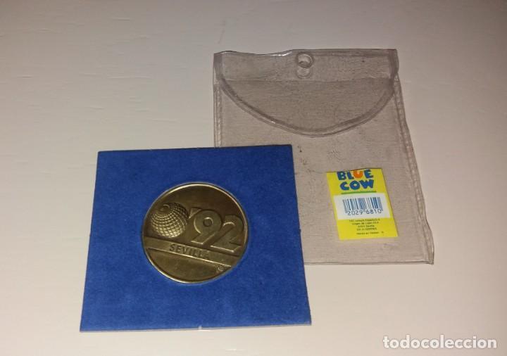 Trofeos y medallas: Moneda/Medalla. Expo Sevilla 92, La Cartuja, conmemorativa - Foto 2 - 171745622