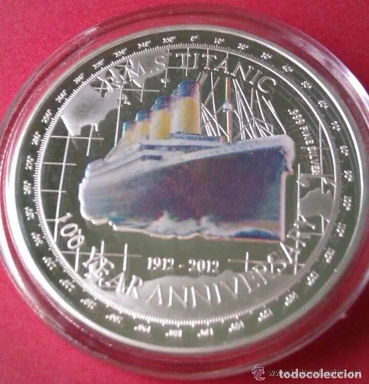 MONEDA DE PLATA CONMEMORATIVA 100 AÑOS DEL TITANIC - 1912 - 2012 (1) (Numismática - Medallería - Trofeos y Conmemorativas)