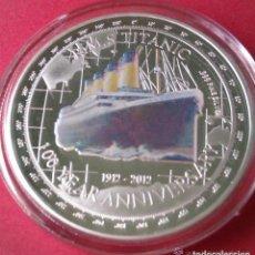 Trofeos y medallas: MONEDA DE PLATA CONMEMORATIVA 100 AÑOS DEL TITANIC - 1912 - 2012 (1). Lote 172249520