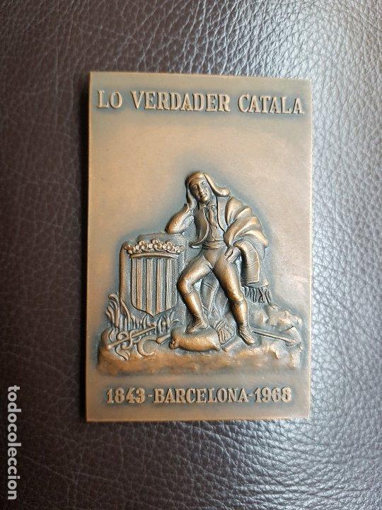 MEDALLA LO VERDADER CATALÀ 125 ANIVERSARIO (Numismática - Medallería - Trofeos y Conmemorativas)