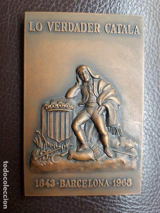 Trofeos y medallas: Medalla Lo verdader Català 125 aniversario - Foto 2 - 172933147