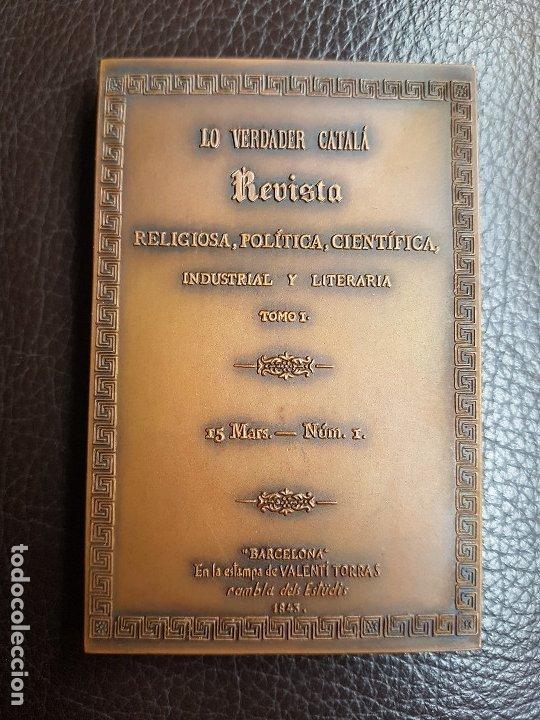 Trofeos y medallas: Medalla Lo verdader Català 125 aniversario - Foto 3 - 172933147