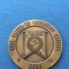 Trofeos y medallas: MEDALLA CLUB GALEGO AUTOMOVILES ANTIGOS 1985.C.G.A.A. Lote 173734899