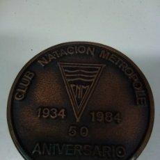 Trofeos y medallas: MEDALLA CLUB DE NATACIÓN METROPOLE. 1934-1984. 50 ANIVERSARIO. LAS PALMAS DE GRAN CANARIA. . Lote 174071115