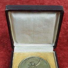 Trofeos y medallas: MEDALLA DE METAL PLATEADO. PREMIO AL MERITO FOTOGRAFICO. AGFA. SIGLO XX. . Lote 175197682