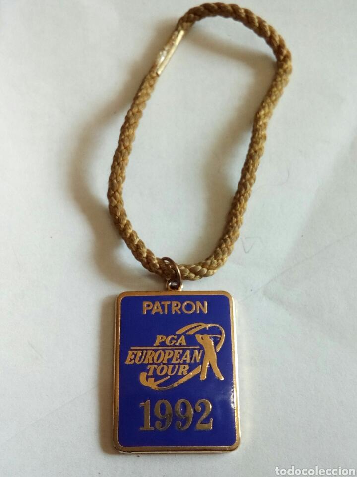 MEDALLA PATRON PGA EUROPEAN TOUR 1992 ESMALTADA (Numismática - Medallería - Trofeos y Conmemorativas)