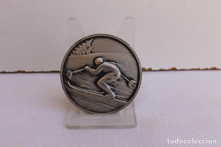 MEDALLA DE BRONCE CAMPEONATO DE ESQUI EN LA SAMBUY (Numismática - Medallería - Trofeos y Conmemorativas)