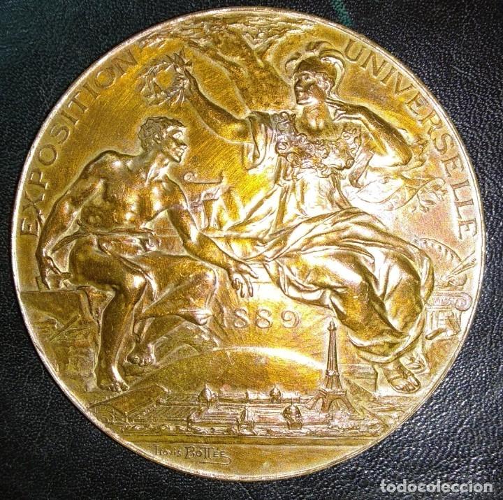 MEDALLA DE BRONCE - EXPOSICIÓN UNIVERSAL DE PARÍS 1889 - REPÚBLICA FRANCESA - LOUIS BOTTEE (Numismática - Medallería - Trofeos y Conmemorativas)
