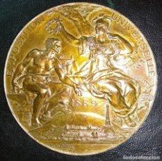 Trofeos y medallas: MEDALLA DE BRONCE - EXPOSICIÓN UNIVERSAL DE PARÍS 1889 - REPÚBLICA FRANCESA - LOUIS BOTTEE. Lote 176496709