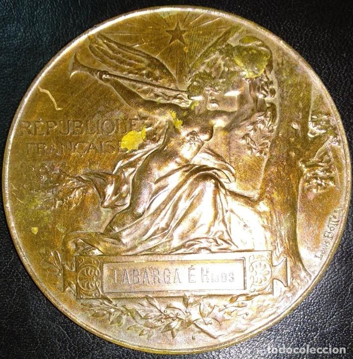 Trofeos y medallas: MEDALLA DE BRONCE - EXPOSICIÓN UNIVERSAL DE PARÍS 1889 - REPÚBLICA FRANCESA - LOUIS BOTTEE - Foto 2 - 176496709