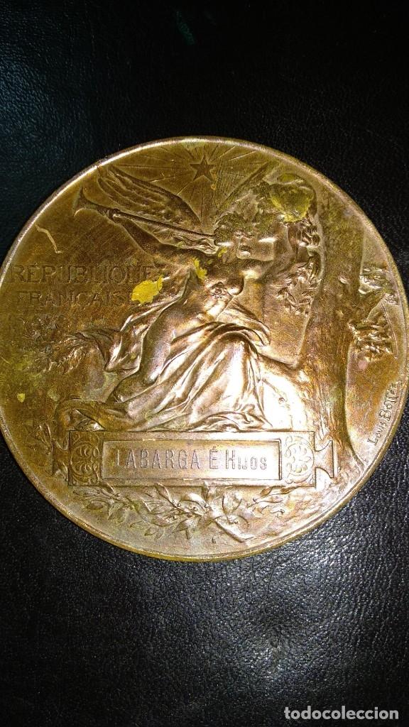 Trofeos y medallas: MEDALLA DE BRONCE - EXPOSICIÓN UNIVERSAL DE PARÍS 1889 - REPÚBLICA FRANCESA - LOUIS BOTTEE - Foto 4 - 176496709