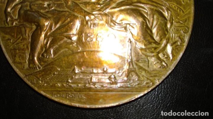 Trofeos y medallas: MEDALLA DE BRONCE - EXPOSICIÓN UNIVERSAL DE PARÍS 1889 - REPÚBLICA FRANCESA - LOUIS BOTTEE - Foto 5 - 176496709