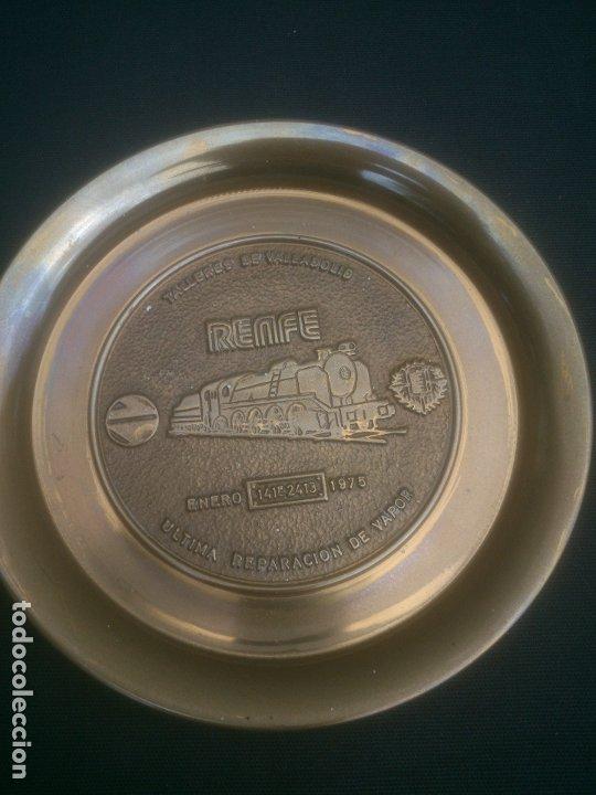 Trofeos y medallas: RENFE FIN DE LA TRACCION VAPOR TALLER CENTRAL DE REPARACION VALLADOLID - Foto 4 - 177406812
