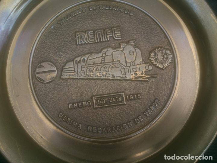 Trofeos y medallas: RENFE FIN DE LA TRACCION VAPOR TALLER CENTRAL DE REPARACION VALLADOLID - Foto 5 - 177406812