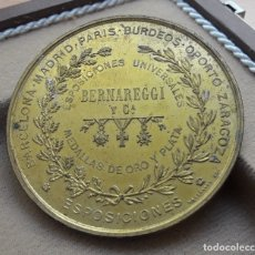 Trofeos y medallas: MEDALLA BERNAREGGI & CO, FINALES DEL XIX/XX FABRICADO EN BRONCE POR MASSONNET.. Lote 177527888