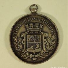 Trofeos y medallas: MEDALLA EN PLATA. CERCLE DE TIR DE BÔNE. ALGÉRIE. 1876.. Lote 177585072