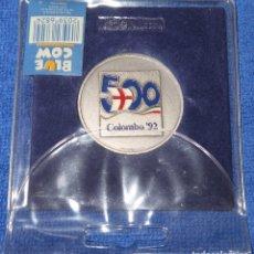 Trofeos y medallas: 500 COLOMBO - QUINTO CENTENARIO DESCUBRIMIENTO DE AMÉRICA - EXPO 92 - SEVILLA - BLUE COW (1992). Lote 177758207