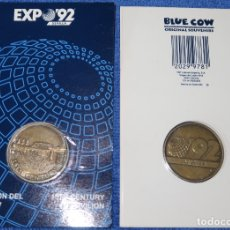 Trofeos y medallas: PABELLÓN DEL SIGLO XV - EXPO 92 - SEVILLA - BLUE COW (1992) ¡IMPECABLE!. Lote 177758209