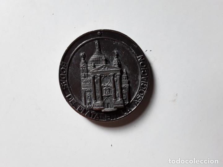 Trofeos y medallas: Moneda conmemorativa de las Bodas de Plata de la Asociación de María Auxiliadora. 5 cm diámetro - Foto 2 - 177784308
