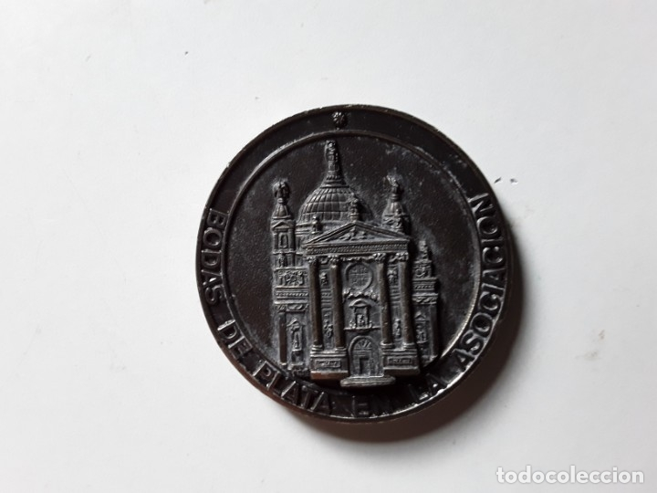 Trofeos y medallas: Moneda conmemorativa de las Bodas de Plata de la Asociación de María Auxiliadora. 5 cm diámetro - Foto 6 - 177784308