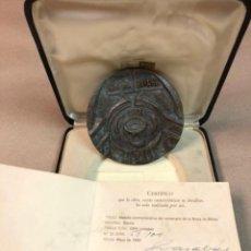 Trofeos y medallas: MEDALLA COMEMORATIVA CENTENÁRIO BOLSA BILBAO POR JOSÉ RAMÓN GOMEZ NAZABAL - EN BRONCE. Lote 178389047