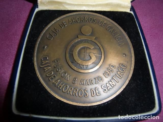 Trofeos y medallas: Medalla Conmemorativa Centenario Caja de Ahorros de Santiago. 1880 - 1980. - Foto 2 - 179097313