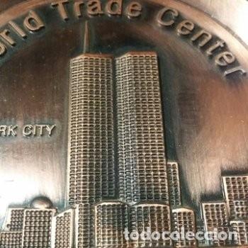 MEDALLA / PLATO WORLD TRADE CENTER NEW YORK CITY 1973-2001 (Numismática - Medallería - Trofeos y Conmemorativas)