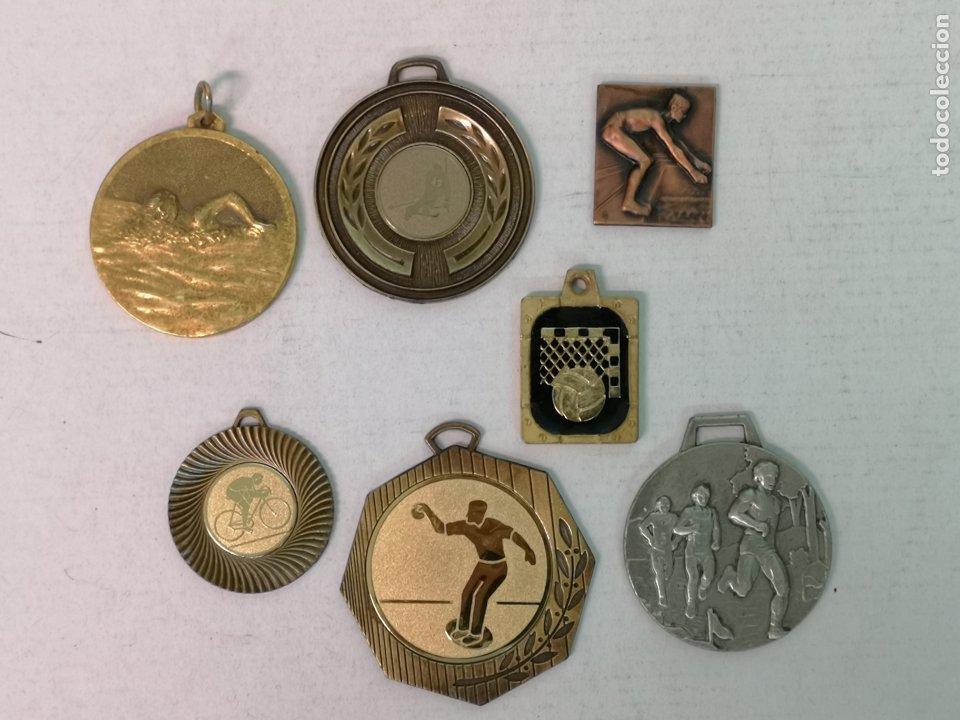7 MEDALLAS DE VARIOS DEPORTES (Numismática - Medallería - Trofeos y Conmemorativas)