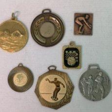 Trofeos y medallas: 7 MEDALLAS DE VARIOS DEPORTES. Lote 181468026